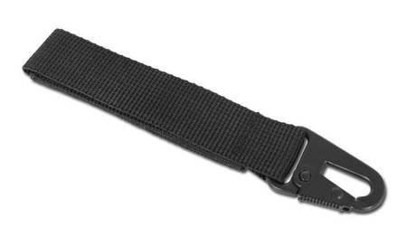 Trok z metalowym karabinkiem   120mm - Czarny - Mil-Tec